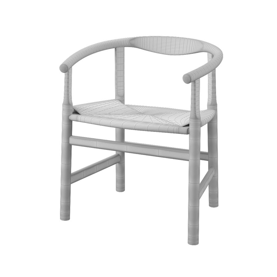 Krzesło PP201 - Hans J Wegner royalty-free 3d model - Preview no. 10