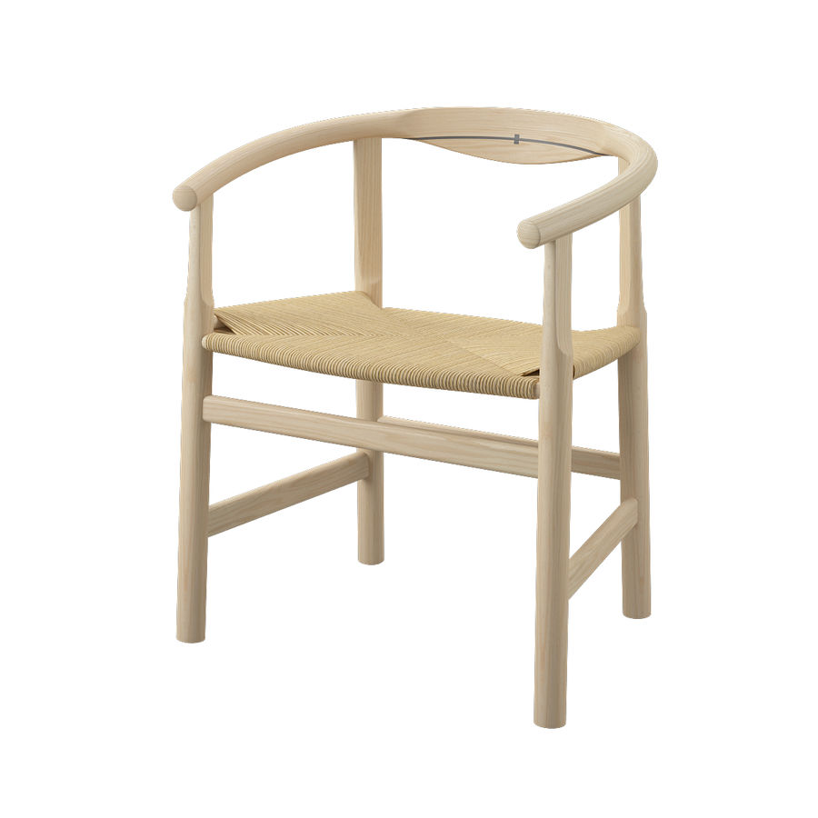 Krzesło PP201 - Hans J Wegner royalty-free 3d model - Preview no. 3