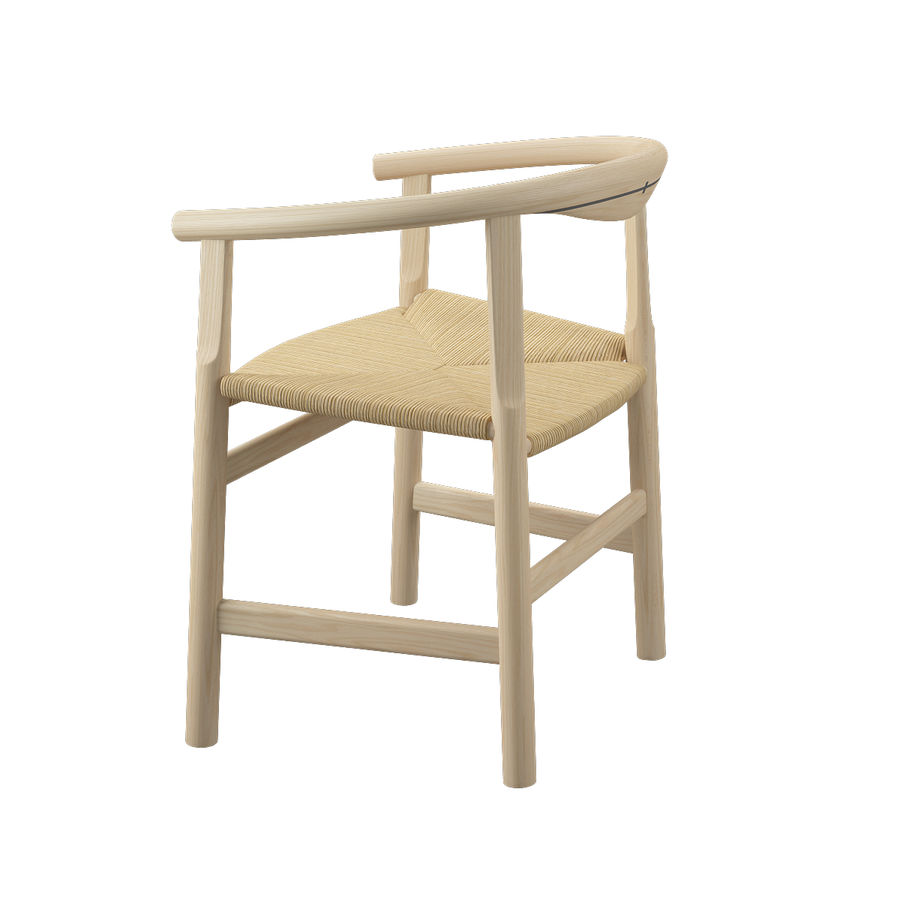 Krzesło PP201 - Hans J Wegner royalty-free 3d model - Preview no. 7