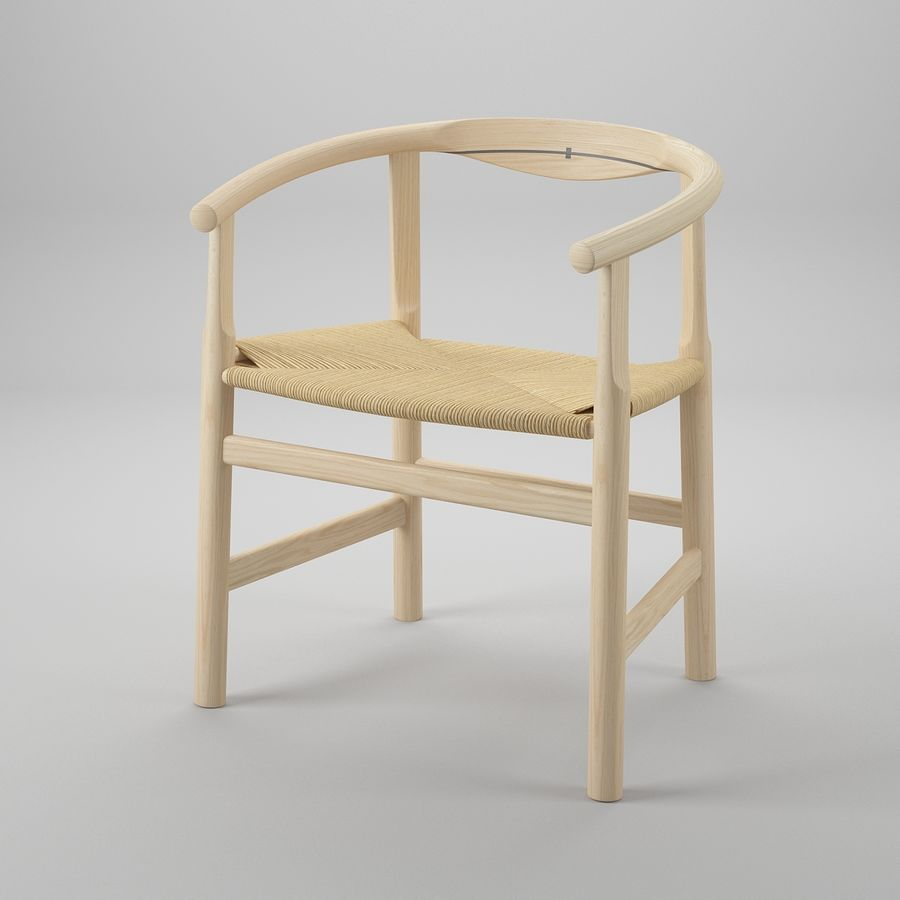 Krzesło PP201 - Hans J Wegner royalty-free 3d model - Preview no. 2