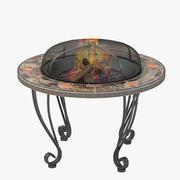 Out Door Firepit Table 01 3d model