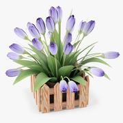 Flores en maceta modelo 3d