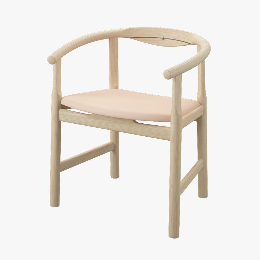 Krzesło PP203 - Hans J Wegner royalty-free 3d model - Preview no. 1