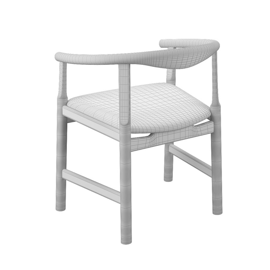 Krzesło PP203 - Hans J Wegner royalty-free 3d model - Preview no. 11