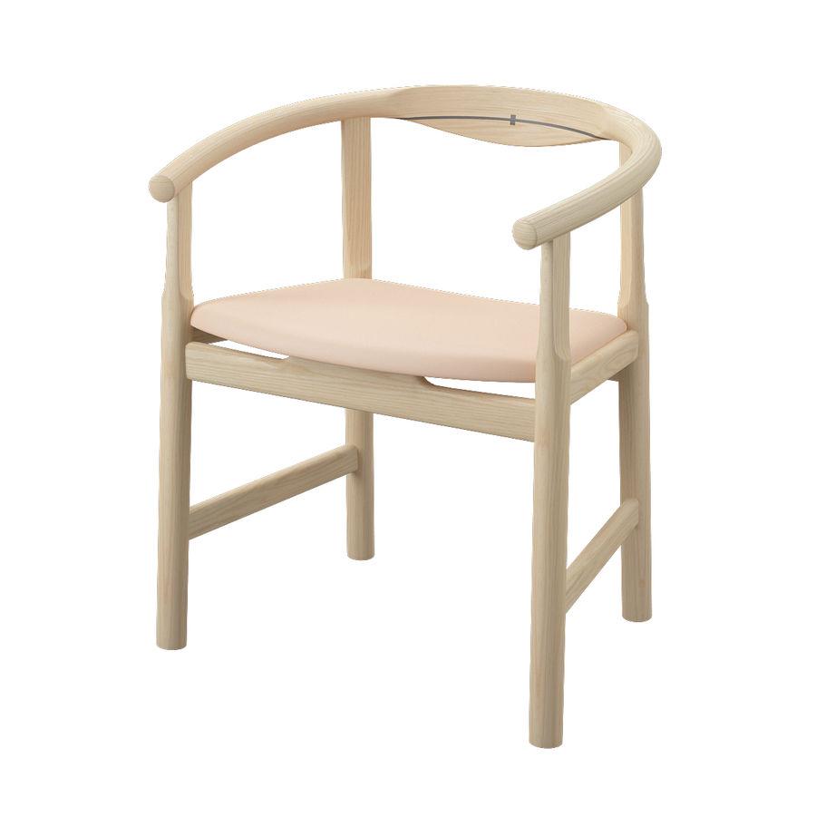 Krzesło PP203 - Hans J Wegner royalty-free 3d model - Preview no. 3