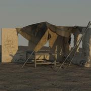 Desert Environment Old Building 3d model