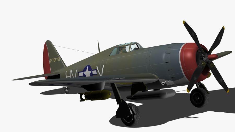 P47D Razorback royalty-free 3d model - Preview no. 10