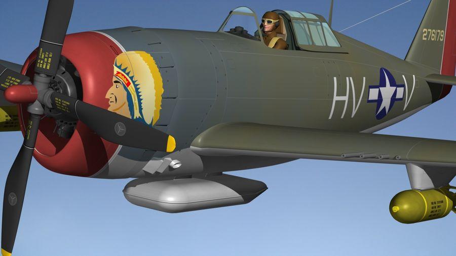 P47D Razorback royalty-free 3d model - Preview no. 3