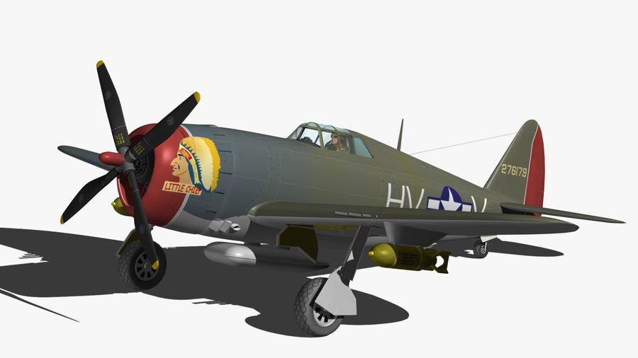 P47D Razorback royalty-free 3d model - Preview no. 9