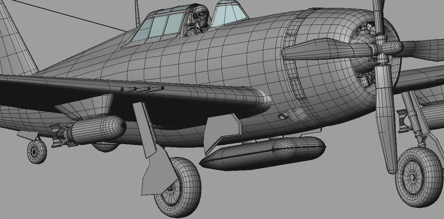 P47D Razorback royalty-free 3d model - Preview no. 18