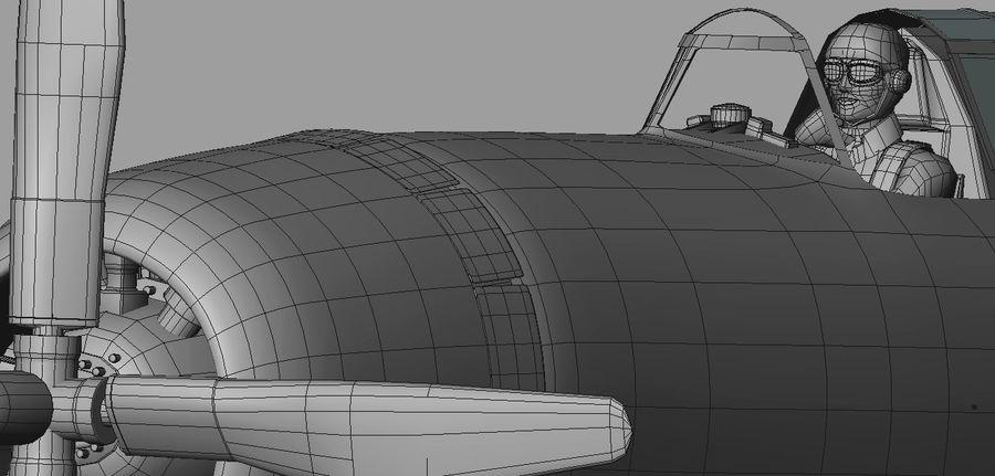 P47D Razorback royalty-free 3d model - Preview no. 19