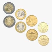 German Euro Coins 3D Models Collection 2 3d model