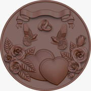 Medal for the wedding 3d model