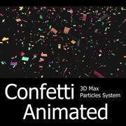 Confetti - Système de particules 3d max 3d model