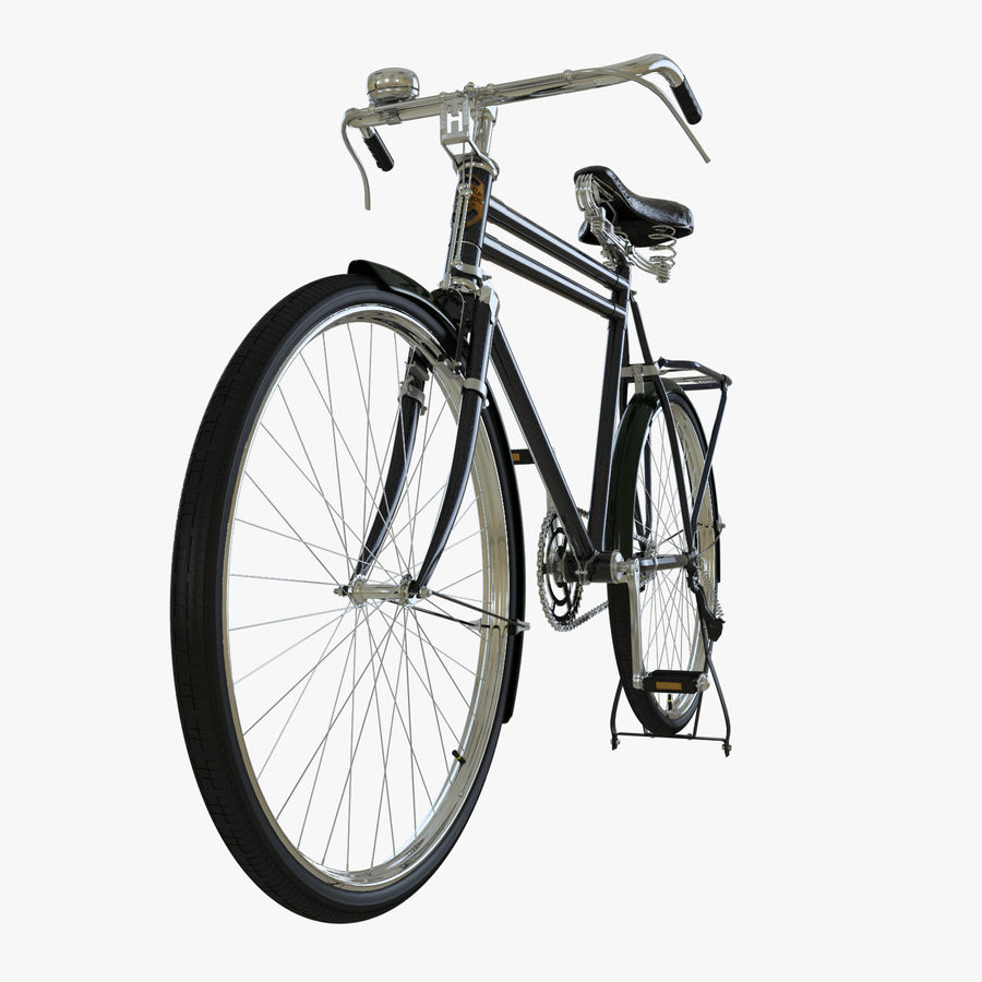 Bicycle Classic 001 (Bike) royalty-free 3d model - Preview no. 3