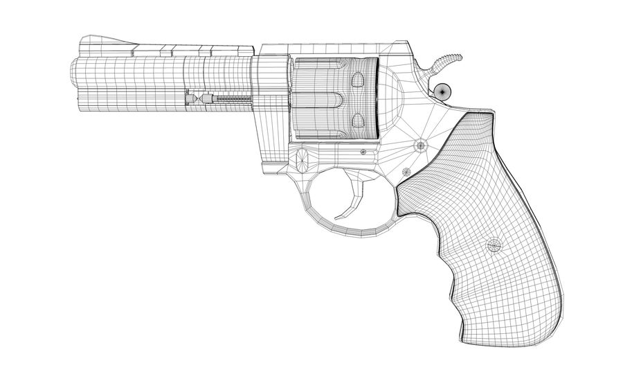 Revolver Colt Anaconda royalty-free 3d model - Preview no. 6