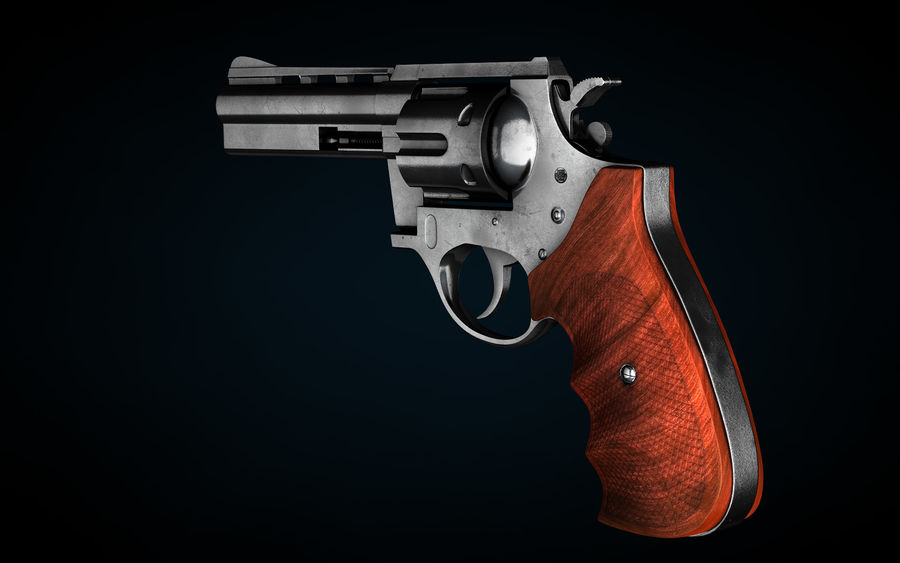Revolver Colt Anaconda royalty-free 3d model - Preview no. 4