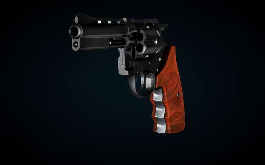 Revolver Colt Anaconda royalty-free 3d model - Preview no. 5