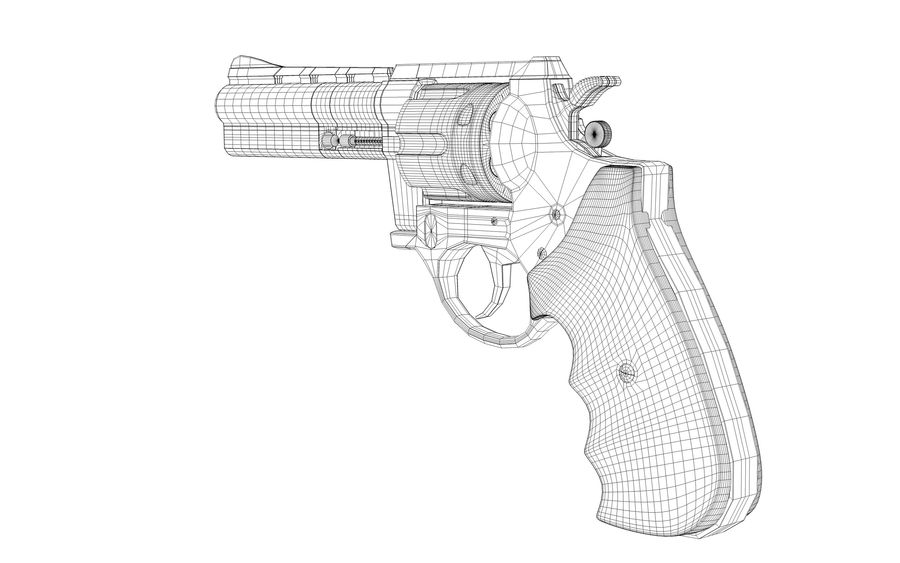 Revolver Colt Anaconda royalty-free 3d model - Preview no. 8