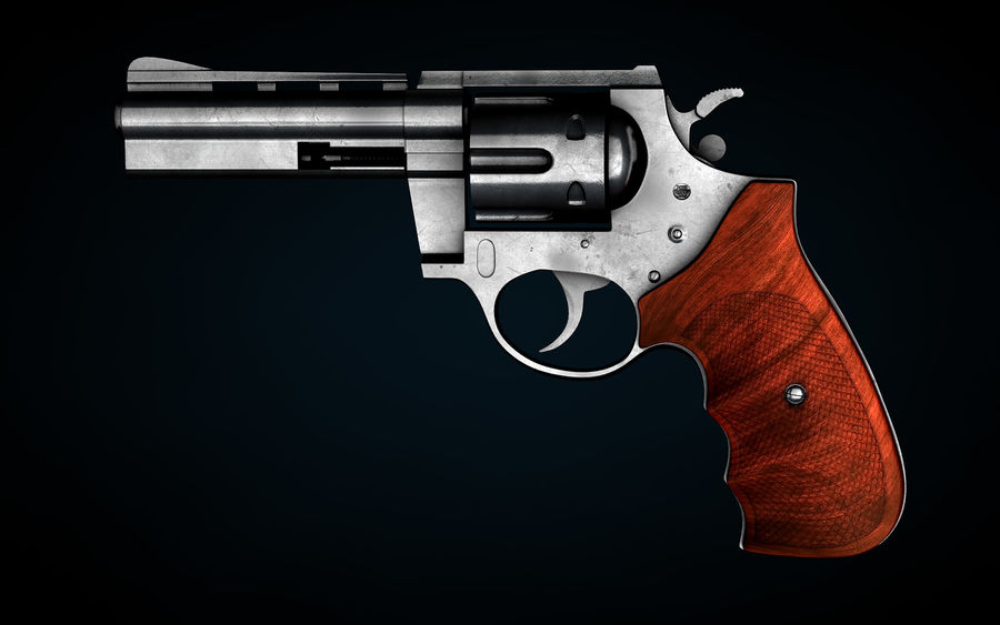 Revolver Colt Anaconda royalty-free 3d model - Preview no. 3