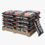 Pallet di sacchi di cemento 3d model