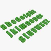 Alphabet Impact Font Small 3d model