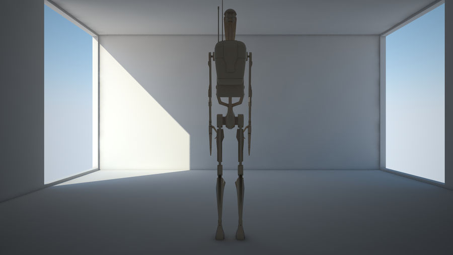 Droid royalty-free 3d model - Preview no. 4