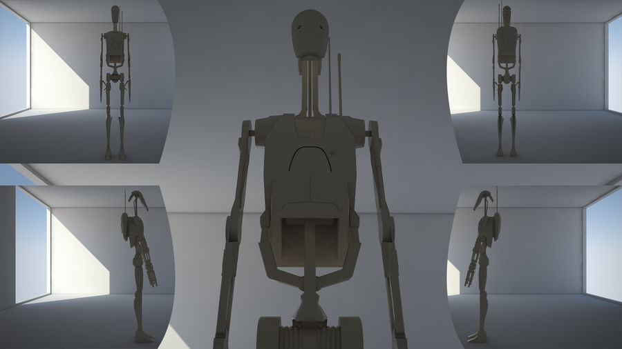 Droid royalty-free 3d model - Preview no. 1