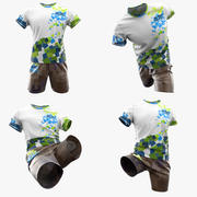Tshirt and shorts custom designs 3d model
