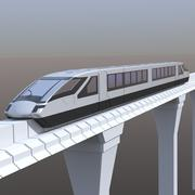 Elektromagnetiskt tåg 3d model