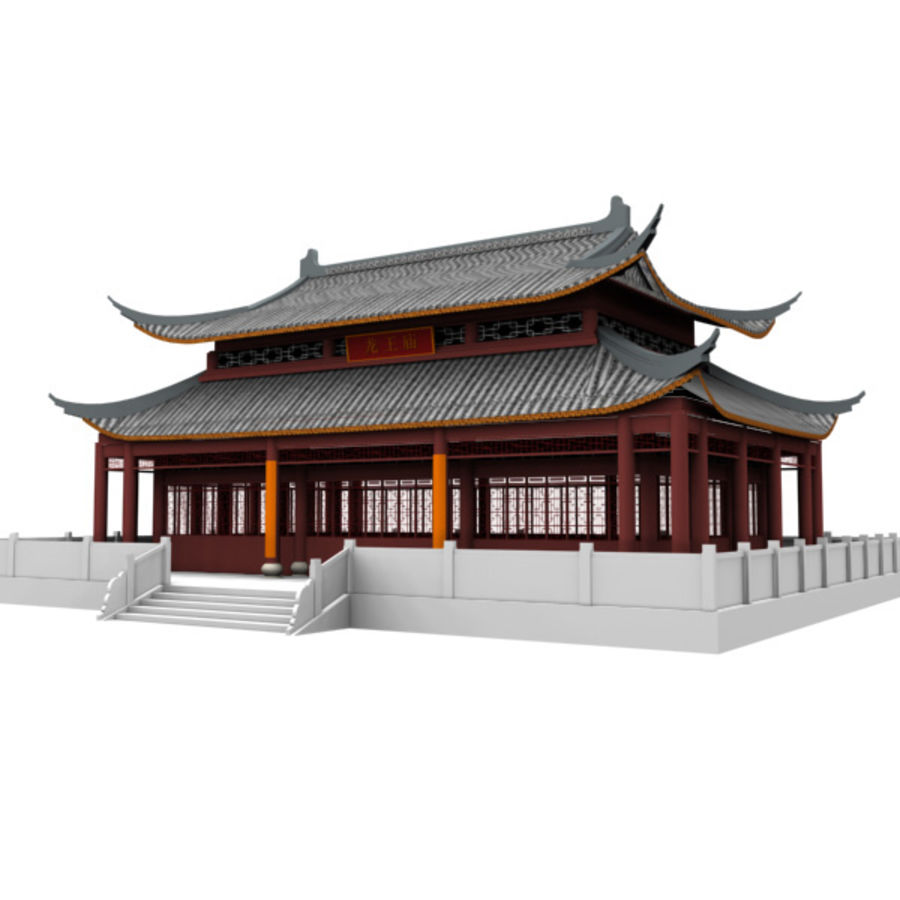 Asia Temple 02 royalty-free 3d model - Preview no. 3