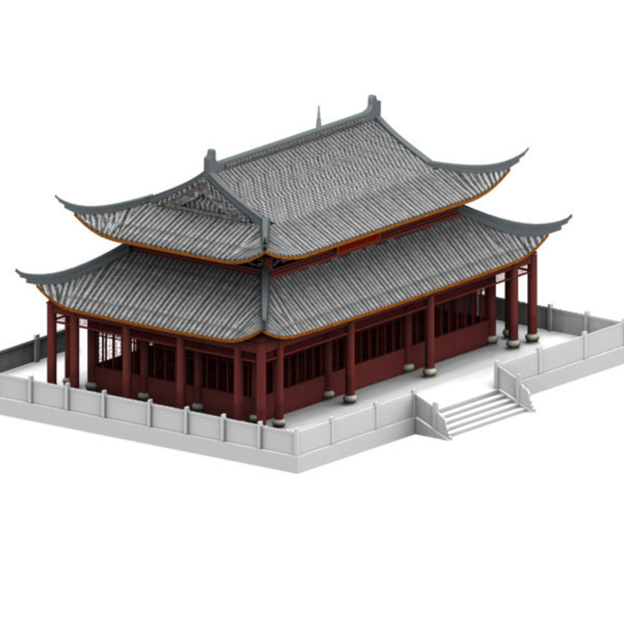 Asia Temple 02 royalty-free 3d model - Preview no. 2