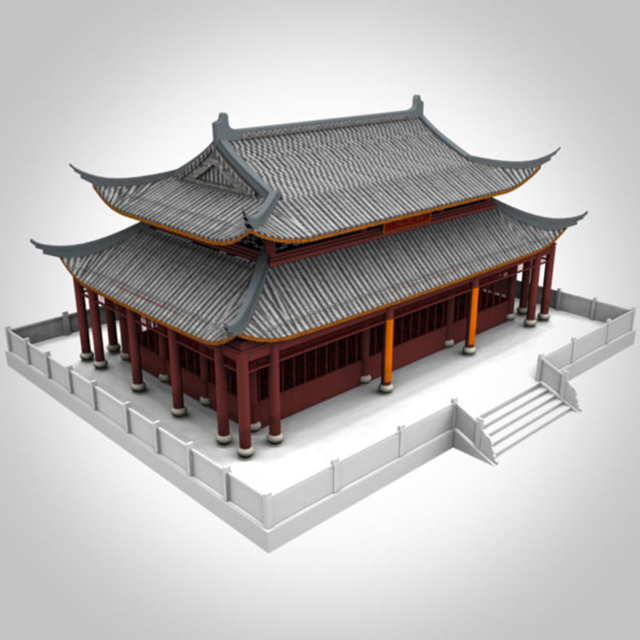 Asia Temple 02 royalty-free 3d model - Preview no. 1
