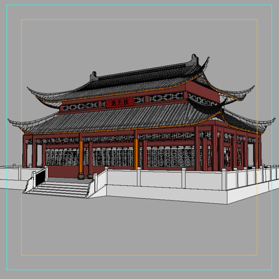 Asia Temple 02 royalty-free 3d model - Preview no. 5