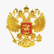 El emblema nacional de Rusia modelo 3d