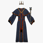 Royal Robe with Attributes 3d model