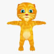 Red-headed cat 3d model