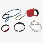 犬の首輪と鎖の3Dモデルコレクション 3d model