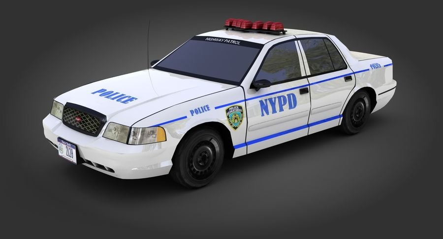 Intercettore di polizia di New York royalty-free 3d model - Preview no. 3