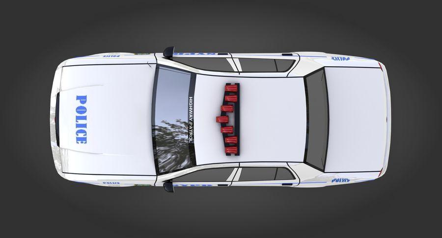 Intercettore di polizia di New York royalty-free 3d model - Preview no. 6