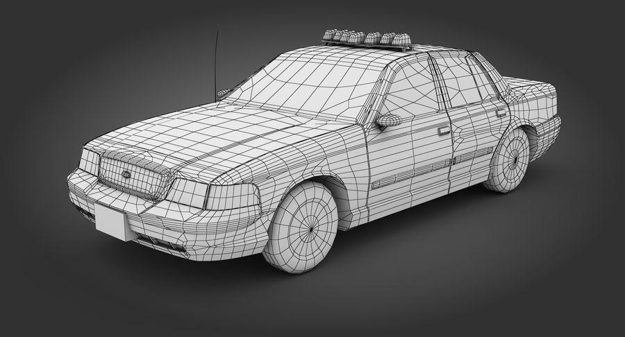 Intercettore di polizia di New York royalty-free 3d model - Preview no. 9