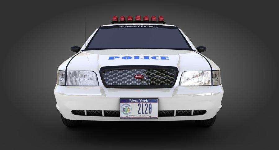 Intercettore di polizia di New York royalty-free 3d model - Preview no. 7