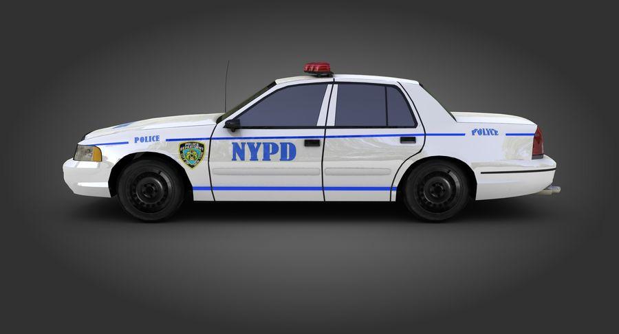 Intercettore di polizia di New York royalty-free 3d model - Preview no. 5