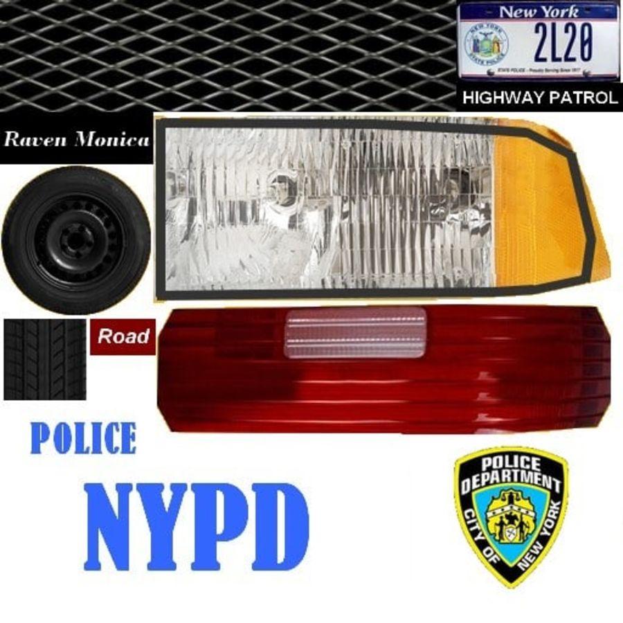 Intercettore di polizia di New York royalty-free 3d model - Preview no. 11