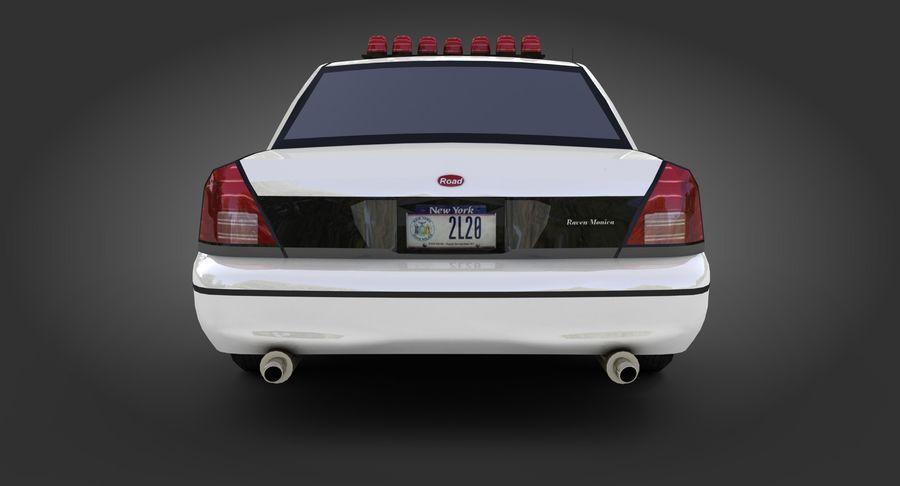 Intercettore di polizia di New York royalty-free 3d model - Preview no. 8