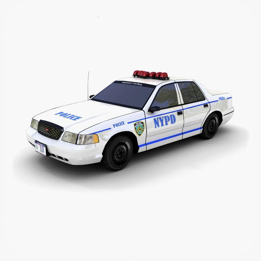 Intercettore di polizia di New York royalty-free 3d model - Preview no. 1
