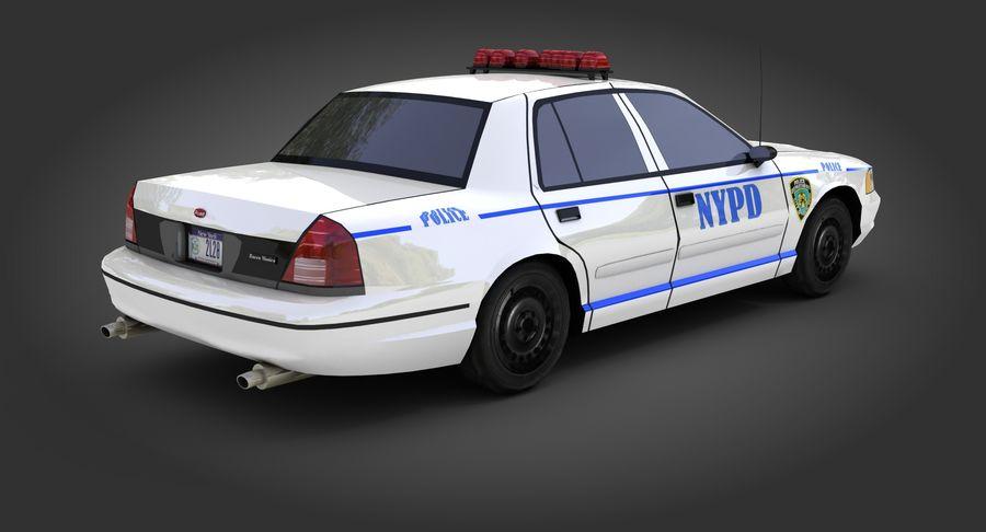 Intercettore di polizia di New York royalty-free 3d model - Preview no. 4
