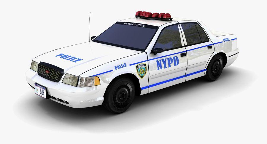 Intercettore di polizia di New York royalty-free 3d model - Preview no. 2