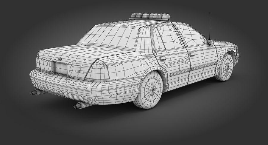 Intercettore di polizia di New York royalty-free 3d model - Preview no. 10
