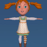 Pippi das Meias Altas 3d model